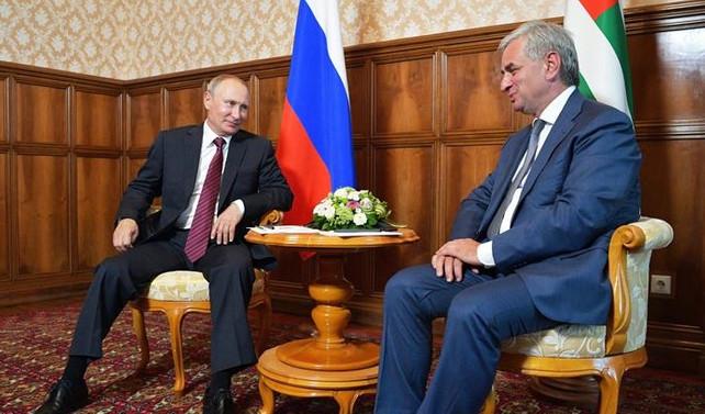 Putin'in Abhazya ziyaretine tepki