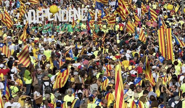 Katalonya'da bağımsızlık gösterisi