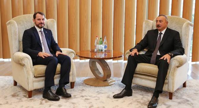 Bakan Albayrak, Aliyev'le görüştü