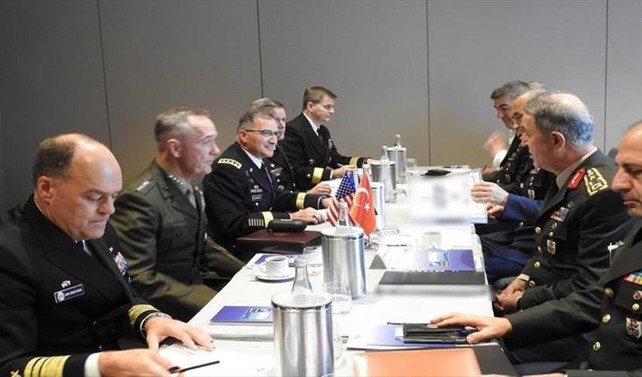 Genelkurmay Başkanı Akar, ABD Genelkurmay Başkanı Dunford ile görüştü