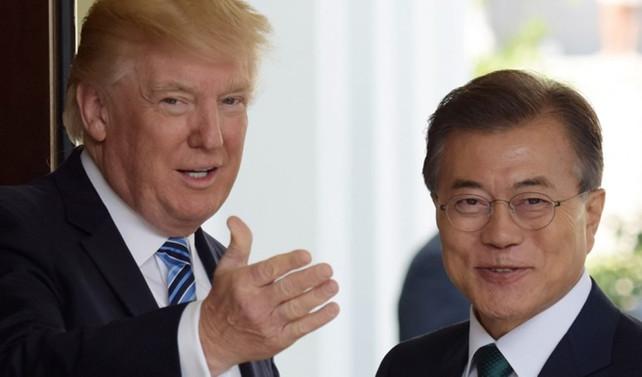 Trump ve Moon Kuzey Kore'yi konuştu