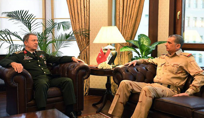 Hulusi Akar, Irak Genelkurmay Başkanı ile görüştü