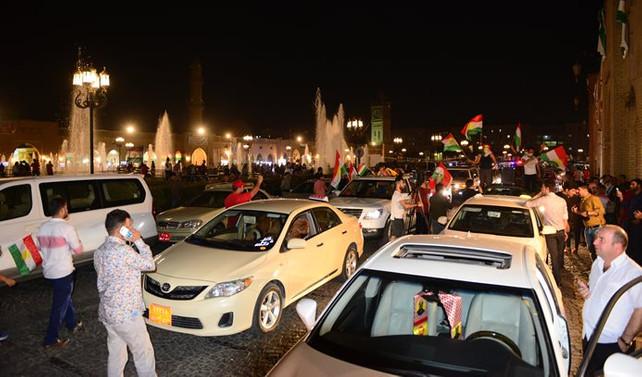 Erbil'de vatandaşlar sokakta