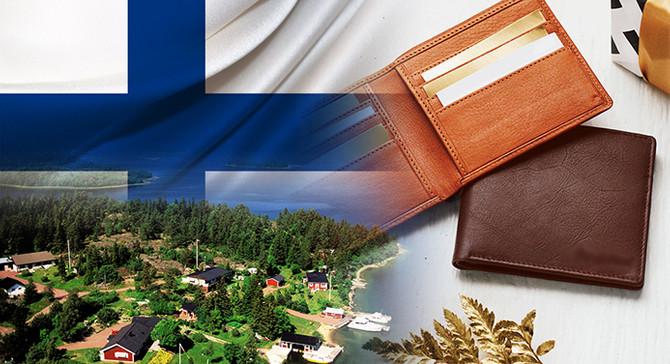 Finlandiya pazarı için deri cüzdan çeşitleriyle ilgileniyor