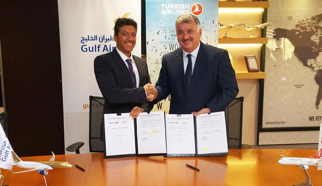 Gulf Air ile THY'den iş birliği