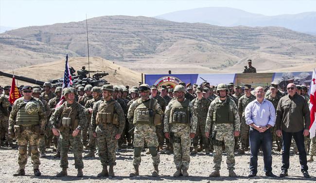 Gürcistan'da çokuluslu ortak askeri tatbikat başladı