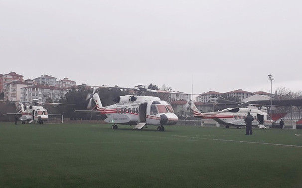 Erdoğan'ın helikopteri acil iniş yaptı