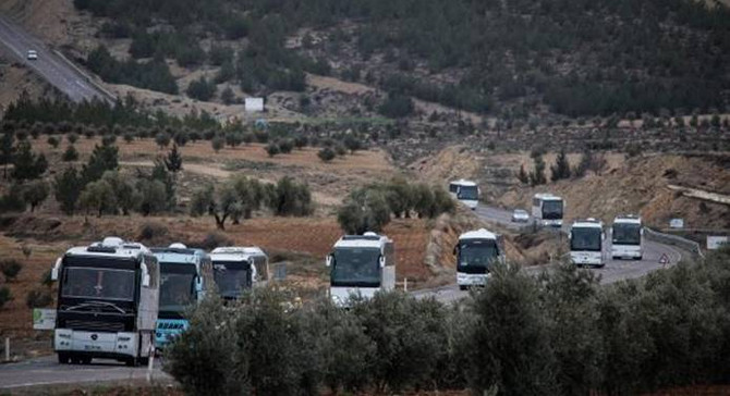 ÖSO Kilis'ten otobüslerle sınırı geçti