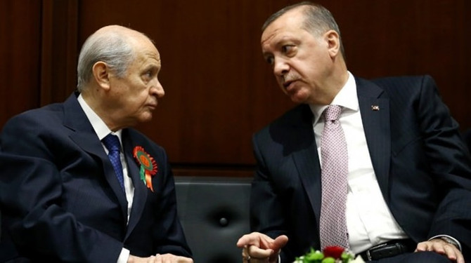 Cumhurbaşkanı Erdoğan, Bahçeli'yle görüştü