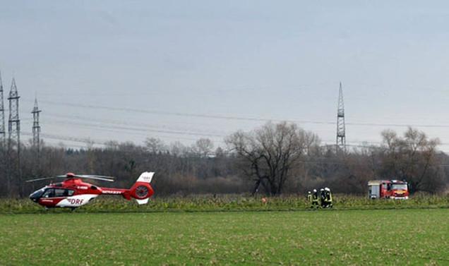 Almanya'da uçak ile helikopter çarpıştı: 4 ölü