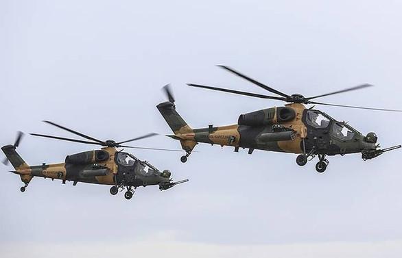 ATAK helikopterleri Afrin'i vurdu
