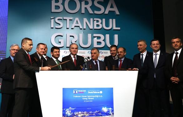 Borsada gong, Trabzon Limanı için çaldı