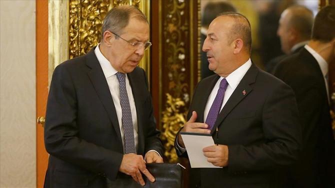 Çavuşoğlu, Lavrov'la görüştü