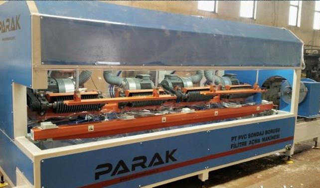 Tek makinede üç tip boruya filtre açabiliyoruz