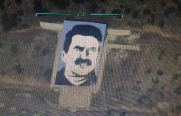 Afrin'deki Öcalan Anıtı SİHA ile imha edildi