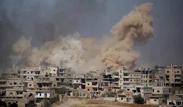 İsrail Suriye'yi savaş uçakları ve füzelerle vurdu