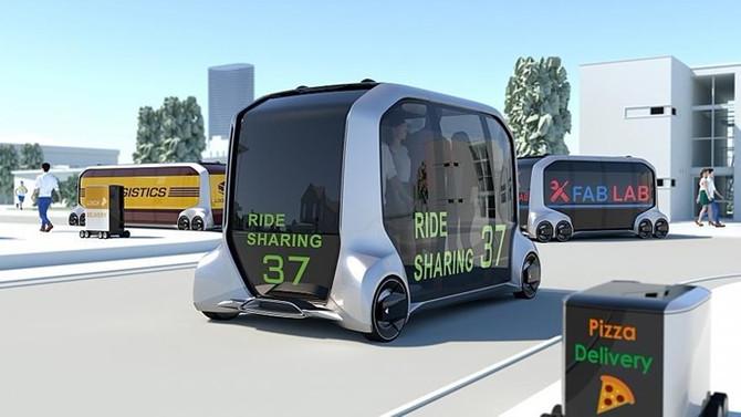 Çok işlevli otonom araçlar: Dağıtım aracı, otel, taksi...