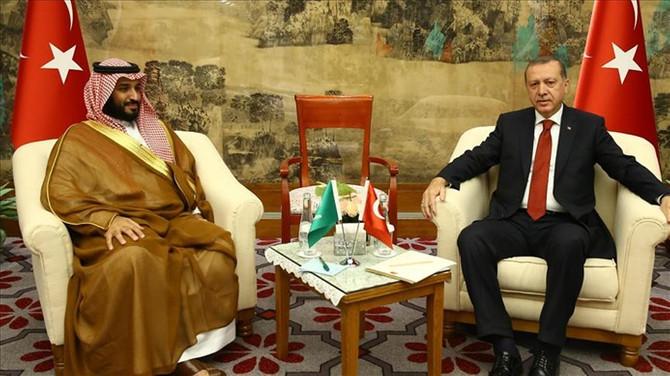 Erdoğan, Muhammed bin Selman'la görüştü