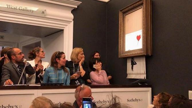'Balonlu Kız' tablosu kendi kendini imha etti