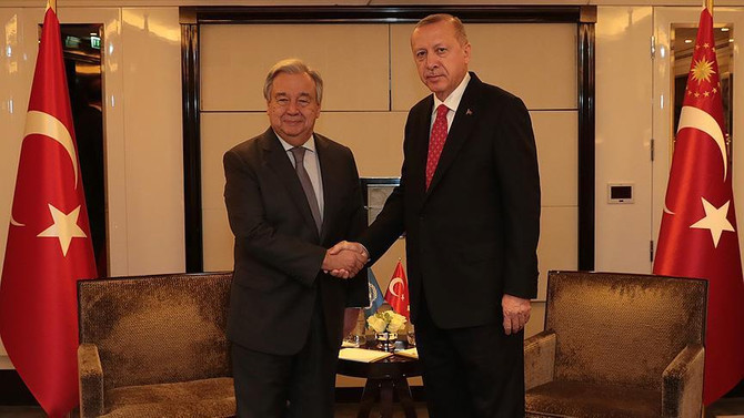 Erdoğan, BM Genel Sekreteri Guterres ile görüştü