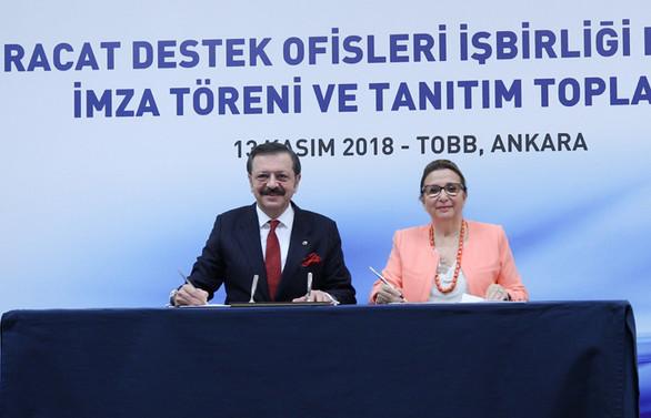 Ticaret Bakanlığı ve TOBB'dan ihracatı genele yayacak işbirliği