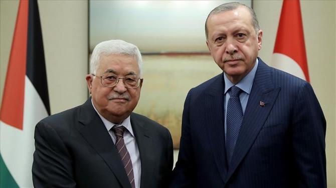 Cumhurbaşkanı Erdoğan Mahmud Abbas'la telefonda görüştü