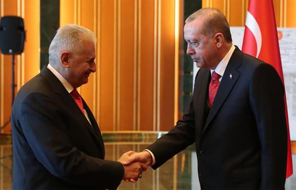 Erdoğan ile Yıldırım bir araya geldi