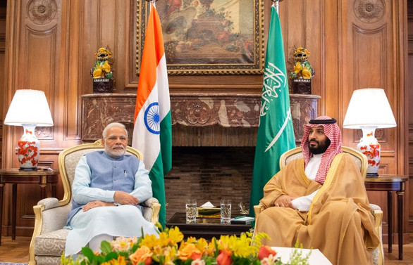 Veliaht Prens, Hindistan Başbakanı'yla görüştü