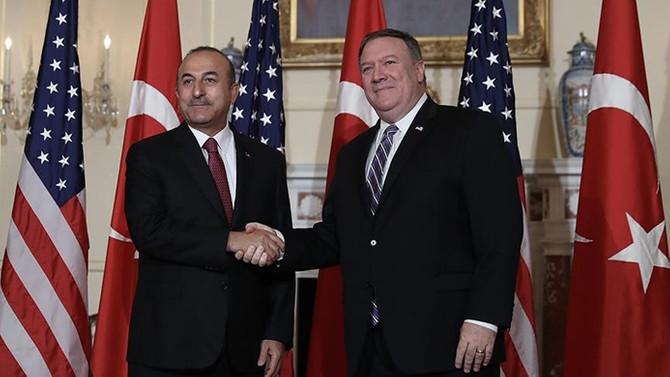 Çavuşoğlu, ABD Dışişleri Bakanı Pompeo ile görüştü