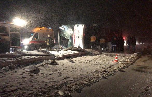 Ankara ve Kırşehir'de otobüs kazaları: 3 ölü, 55 yaralı