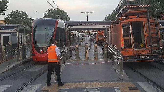 Kabataş-Bağcılar Tramvay Hattı'nda arıza