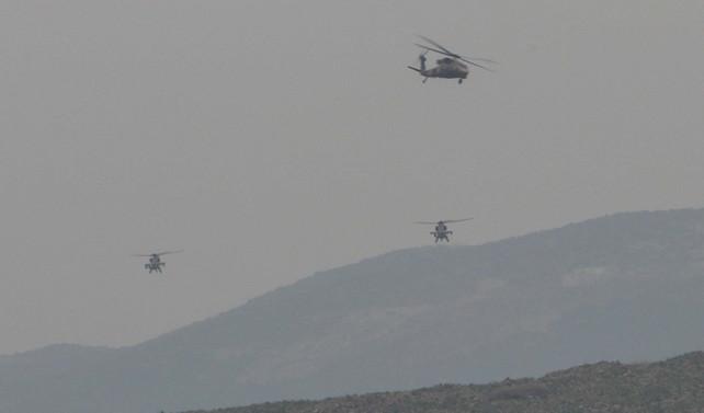 Sınırda düşen helikopter sonrası hareketlilik