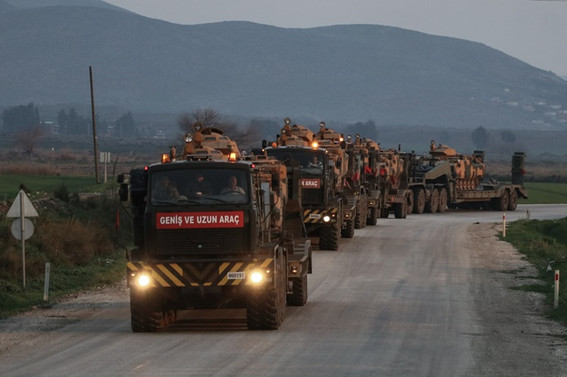 Sınıra askeri araç takviyesi