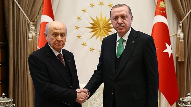 Erdoğan ile Bahçeli 'ittifak'ı görüştü