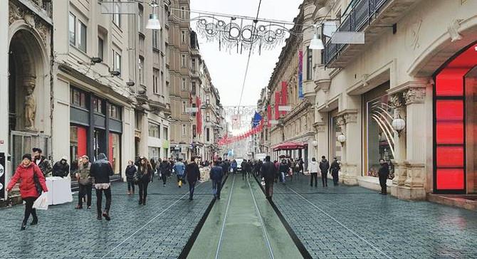 İstiklal Caddesi ağaçlandırılıyor