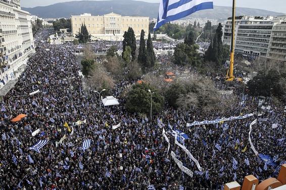 Yunanistan'da yüz binler sokağa indi