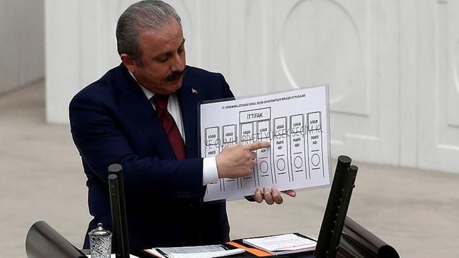 Şentop'tan oy pusulası açıklaması