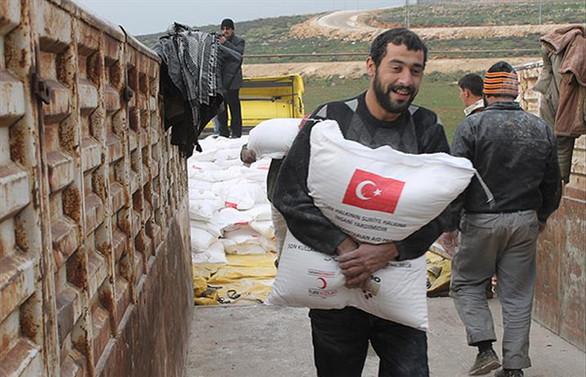 Suriye'deki sivil halka 100 bin ton un hibesi