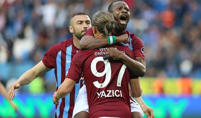 Trabzonspor galibiyet özlemini farklı sona erdirdi