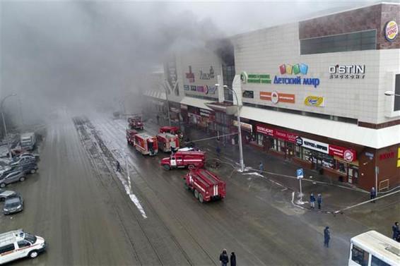 Rusya'daki AVM yangınında ölü sayısı 64 oldu