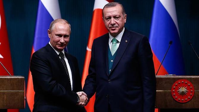 Erdoğan'dan Rusya Devlet Başkanı Putin'e başsağlığı mesajı