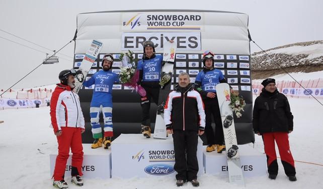 Ford Snowboard Dünya Kupası müsabakaları Eerciyes'te yapıldı