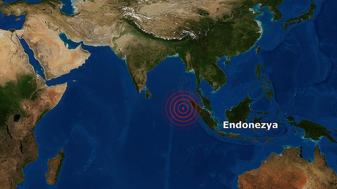 Endonezya'da 5.7 şiddetinde deprem