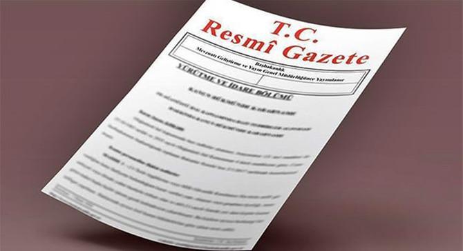 Atama kararları Resmi Gazete'den duyuruldu