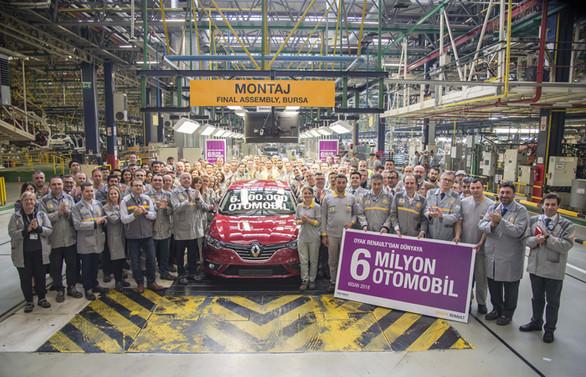 Oyak Renault, 6 milyonuncu otomobilini banttan indirdi