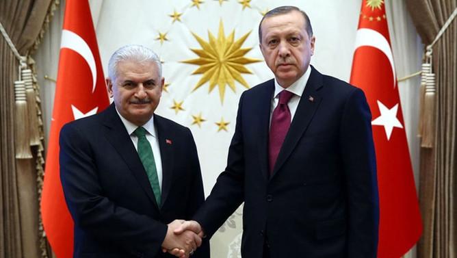 Cumhurbaşkanı Erdoğan, Yıldırım ile görüştü