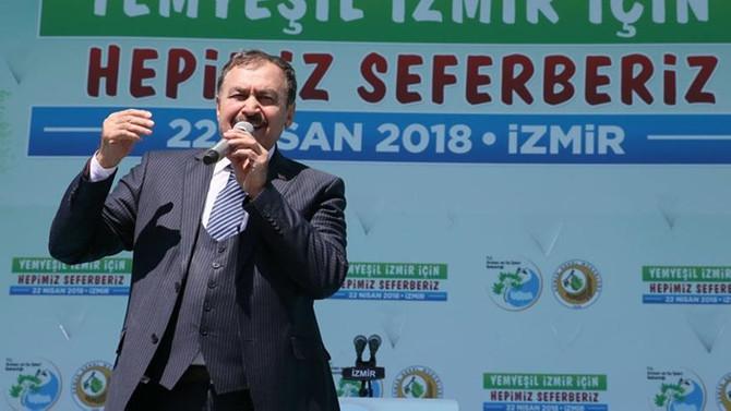 Eroğlu: Yanan orman alanları 1 yıl içerisinde ağaçlandırıldı