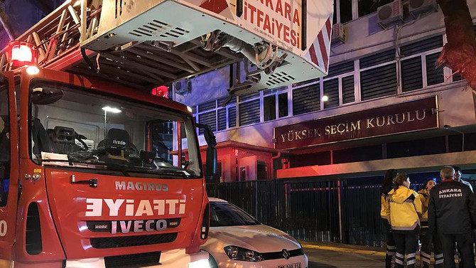 YSK binasında yangın