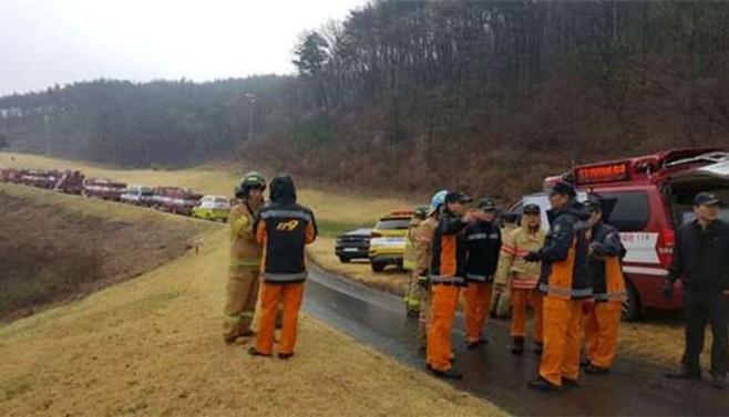 Güney Kore'de savaş uçağı düştü