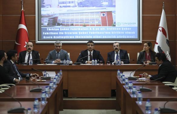 Erzurum ile Erzincan şeker fabrikalarının ihalesi sonuçlandı